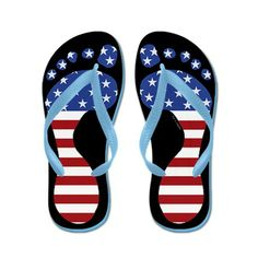 ad9608fb2d26 Patriotic Funny Feet Flip Flops ~ More Colors at CafePress http   www.