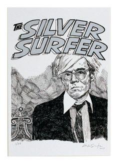 SILVER SURFER/ ANDY WARHOL by Kostas Seremetis Archives, via Flickr
