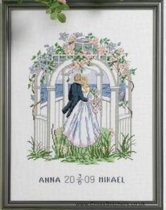 Free Wedding X Stitch Patterns | Wedding Samplers - Wedding Sampler Cross Stitch Kit - Idéna ...