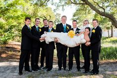 A fun photo idea with the bride!  | photo by http://cariadphotography.com | see more http://www.thebridelink.com/blog/2013/06/24/destination-wedding-to-tybee-island/