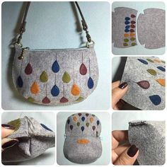 DIY leather case tutorial - time to get creativeLeather handbag pattern fast and easy sewing projects for beginners - for creative juiceGift bag in traditional style. You can only make a fabric gift bag Felt Diy, Felt Crafts, Bag Patterns To Sew, Sewing Patterns, Felt Patterns, Sewing Tutorials, Sewing Projects, Sewing Hacks, Tutorial Sewing
