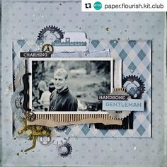 A great masculine layout by Tracey for the August Kit!! Such a versatile for the…
