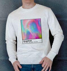 Sweatshirt pour Homme Grape Fruit de couleur Beige chiné