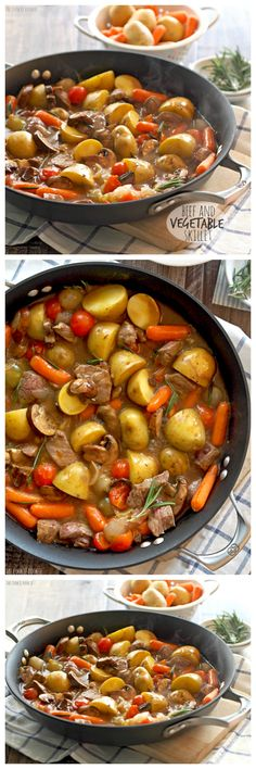 Beef and Vegetable Skillet! A perfect and easy weeknight meal. So flavorful and delicious! Made with Imagine Red Wine Simmer Sauce. YUM!