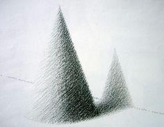 Age 12 ~ Drawing ~ Black & White ~ Cone ~ Wax Crayon