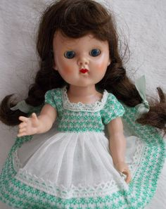 Vogue Ginny Walker from 1954 ~ in Rare Dress ~ Adorable! #Vogue #DollswithClothingAccessories
