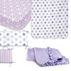 CoCaLo® Mix & Match Violet Crib Bedding Collection