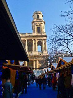 By NikitaDB. Xmas market Saint Sulpice. Paris Xmas / Paris Christmas / Paris Noel