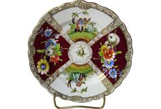 One Kings Lane - A Taste for Tradition - Hand-Painted Dresden Plate