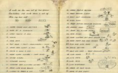 Woody Guthrie's 1942 New Years Resolutions.