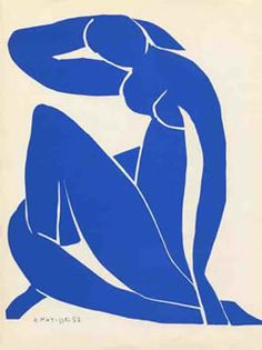 """""""Blue Nude"""" - Matisse is almost totally blind. Paintings of Henri Matisse: one of my fav; i have painted,drawn & made cutouts in Matisse style many many times Henri Matisse, Matisse Kunst, Matisse Art, Matisse Cutouts, Art And Illustration, Illustrations, Matisse Pinturas, Matisse Paintings, Oil Paintings"""