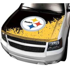 Officially Licensed NFL Car Hood Cover by Team ProMark - Steelers Oklahoma State Cowboys, Nfl Dallas Cowboys, Ohio, Exterior Car Accessories, Pittsburgh Steelers Merchandise, Steelers Gear, License Plate Covers, Truck Stickers, Steeler Nation