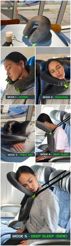 The FaceCradle travel or neck pillow allows the luxury of experiencing a relaxing sleep on a massage table while flying coach.