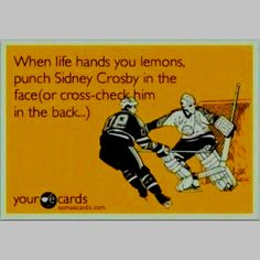 There is nobody a Philly Flyers fan loathes more than Crosby! I crack up every time I see this!