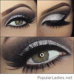 silver-glitter-and-black-eye-make-up