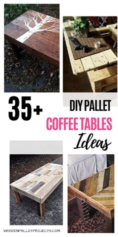 Check out these 35  DIY pallet coffee tables ideas. Awesome examples of pallet coffee tables with wheels, storage and a glass top. Easy to make, industrial and rustic coffee table projects. #diypalletcoffeetables #upcyclingpallets #palletprojects Diy Projects Plans, Beginner Woodworking Projects, Diy Pallet Projects, Easy Diy Projects, Diy Woodworking, Build A Coffee Table, Coffee Table With Wheels, Rustic Coffee Tables, Craft Shelves