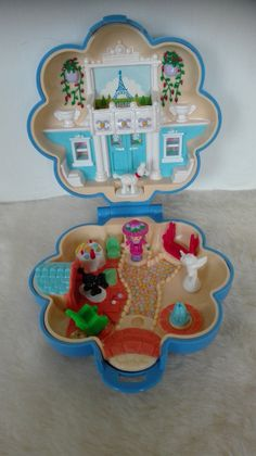 Vintage Bluebird Polly Pocket FiFi's Parisian Apartment compact complete - 1990 by MetalmanEd on Etsy