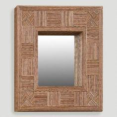 Mosaic Coco Stick Rectangular Mirror   World Market