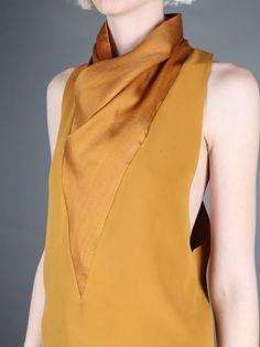 Haider Ackermann beautiful yellow silk shirt