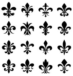 Fleur de lis set vector 1117502 - by paul_june on VectorStock®