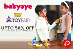 #Babyoye #offers UPTO 50% off on Thoughtfully Curated #Toys. http://www.paisebachaoindia.com/get-upto-50-off-on-thoughtfully-curated-toys-babyoye/
