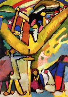Study for Improvisation 8 ,1909,by Wassily Kandinsky