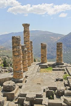Exploring the beautiful ancient ruins of Delphi, Greece