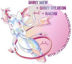 Shiny Mew X Shiny Sylveon X Raichu by Seoxys6 on DeviantArt