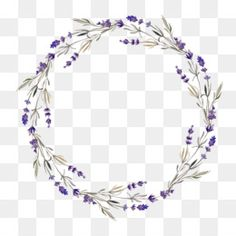 Ideas Flowers Watercolor Paintings Circle For 2019 Free Watercolor Flowers, Watercolor Flower Wreath, Watercolor Paintings, Flower Circle, Flower Frame, Flower Art, Hand Flowers, Purple Flowers, Flower Png Images