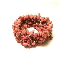 Dusty Rose Chip Stretch Bracelet Dusty Rose Stone Chip Stretch Bracelet. Nice pink color.   $20 Each or 2 for $30  This is NWOT Retail. Jewelry Bracelets