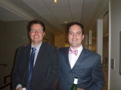 #Attorney Evan Guthrie with Sean Markham of Markham Law Firm at the South Carolina Bar Young Lawyers Division Courthouse Keys event featuring Charleston County Clerk Of Court Julie Armstrong at the office of Nelson Mullins in Charleston, SC on Tuesday November 11, 2014.