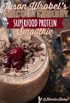 One of my favorite protein smoothies -Chocolate & Cherry smoothie to supercharge your body! Protein Smoothies, Protein Shake Recipes, Protein Shakes, Chocolate Shakeology, Chocolate Protein, Chocolate Recipes, Delicious Chocolate, Chocolate Mouse, Famous Chocolate