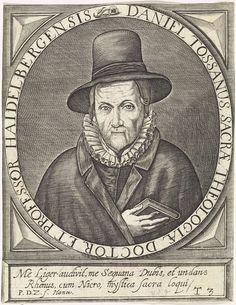Paul de Zetter   Portret van Daniel Toussaint, Paul de Zetter, 1622   Portret van Daniel Toussaint, theoloog te Heidelberg, met de Bijbel in zijn hand en een hoed op het hoofd. Onderaan een tweeregelige tekst in het Latijn. Rechtsonder genummerd: T3.