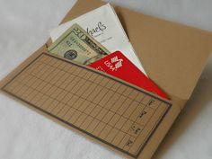 Kraft Money Envelope Debit Card Balance Tracker Receipt by tyvm