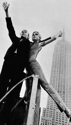 Andy Warhol & Edie Sedgwick. Photographed by David McCabe in 1964. What an amazing photograph.