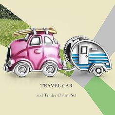 You can go as far as you want to go. It's Soufeel's Travel Car and Trailer Charm Set, There are far, far better things ahead than any we leave behind---- Soufeel Charms