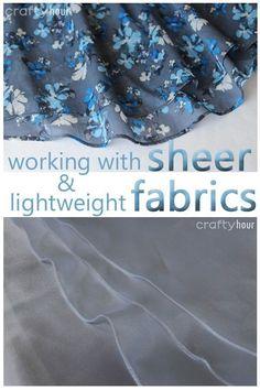 How to hem sheer or lightweight fabrics http://so-sew-easy.com/hem-sheer-or-lightweight-fabrics/?utm_campaign=coschedule&utm_source=pinterest&utm_medium=So%20Sew%20Easy&utm_content=How%20to%20hem%20sheer%20or%20lightweight%20fabrics