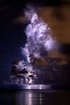 Lightning Through Clouds