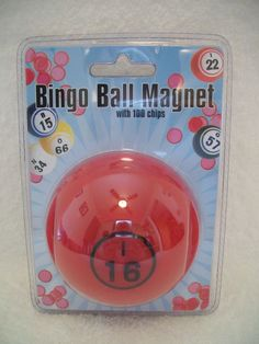 Bingo Chips Bingo Ball Magnetic Pick-up Storage System Red 100 Chips #Unknown