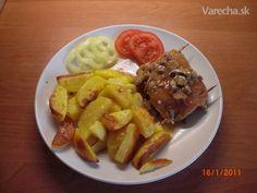 Plnené bravčové rezne (fotorecept) - recept | Varecha.sk Waffles, Steak, French Toast, Beef, Breakfast, Food, Meat, Morning Coffee, Essen