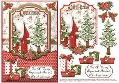 christmas decoupage card making - Google Search