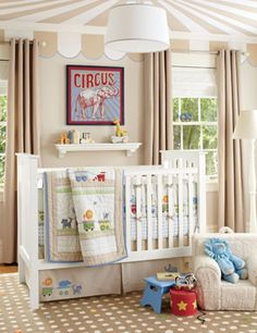 A more subdued circus themed nursery, I like it