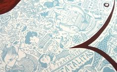 'Marin Tatoué' (tattooed sailor), limited edition screen print (detail)
