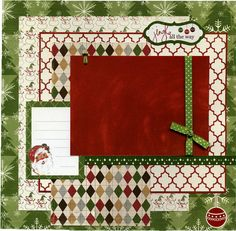 Premade Christmas Scrapbook Page Jingle by SusansScrapbookShack christmasscrapbo. - Premade Christmas Scrapbook Page Jingle by SusansScrapbookShack christmasscrapbooklayouts - Christmas Scrapbook Layouts, Scrapbook Paper Crafts, Scrapbook Cards, Christmas Layout, Scrapbook Supplies, Christmas Ideas, Scrapbook Layout Sketches, Scrapbook Designs, Scrapbooking Layouts