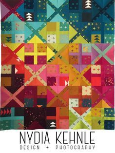 Quilts | Nydia Kehnle Alternative Quilt Pattern Using Alison Glass Handcrafted