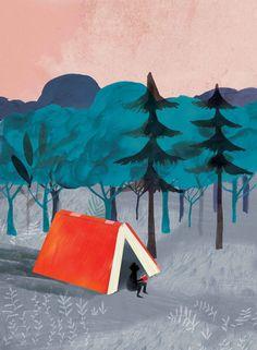 Acampada lectora (ilustración de Adolfo Serra) In a bookish wilderness… Illustrations, Book Illustration, Poesia Visual, Library Posters, Reading Art, Jolie Photo, Book Images, I Love Books, Book Nerd