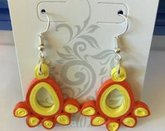 Items similar to Small Earrings - Eco-friendly, quilled paper,  flowers, quilling on Etsy