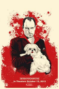 Woody Harrelson in Seven Psychopaths 10.12.12 poster art by Chris Thornley