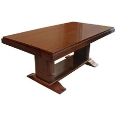 Rosewood Art Deco Dining Table | From a unique collection of antique and modern dining room tables at https://www.1stdibs.com/furniture/tables/dining-room-tables/