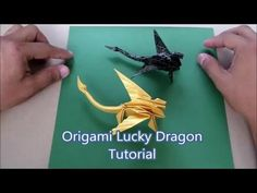 Ideas For Origami Dragon Tutorial Art Origami Design, Origami Dog, Instruções Origami, Origami Envelope, Origami Wedding, Origami And Kirigami, Origami Dragon, Origami Fish, Origami Bookmark